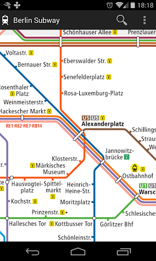 Berlin Subway Map. Free No Ads