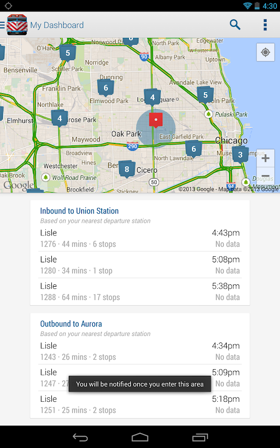 Ride Metra - screenshot