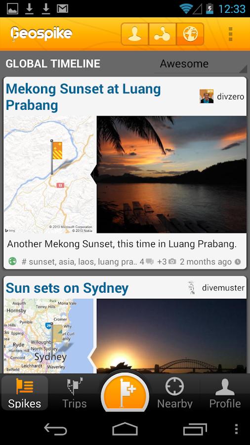 Geospike –Travel Journal - screenshot