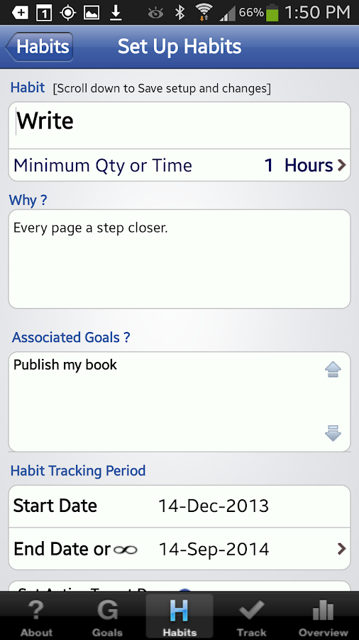 Habit Factor® LT, Goals,Habits - screenshot