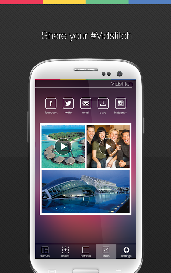 Vidstitch Free - Video Collage - screenshot