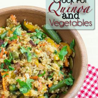 Crock Pot Quinoa with Vegetables.