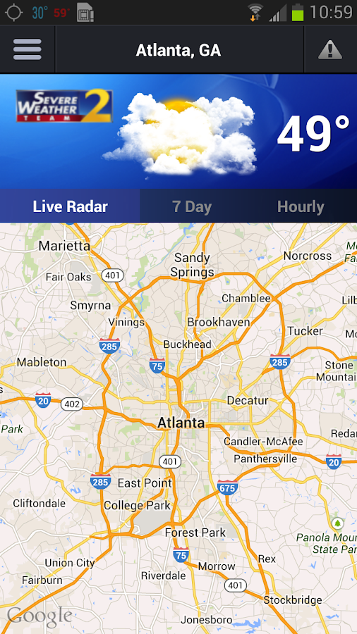 WSBTV Channel 2 Weather - screenshot