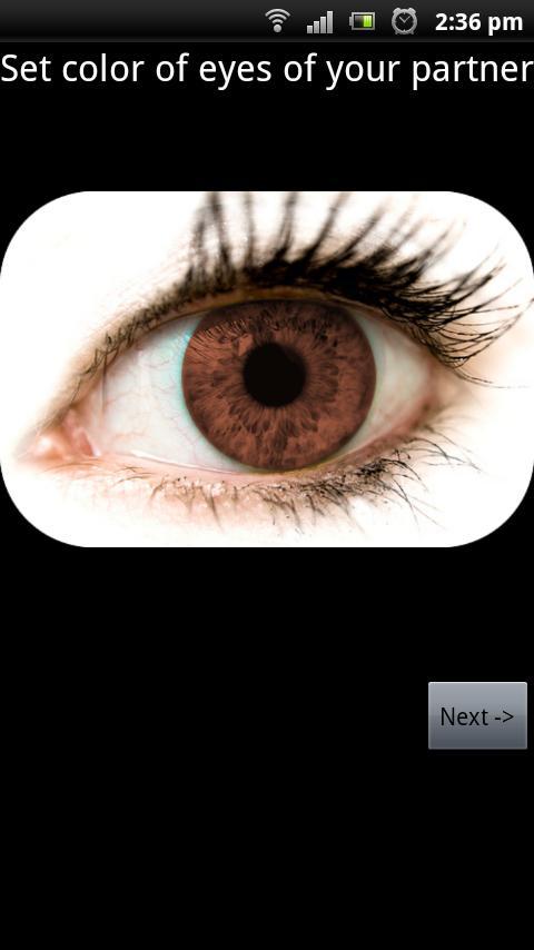 Kalkulator oczu dziecka – zrzut ekranu