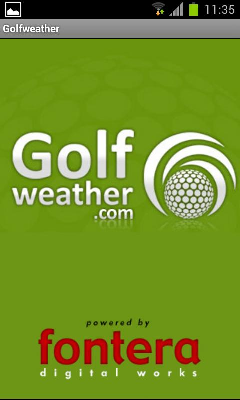 Golfweather.com - screenshot