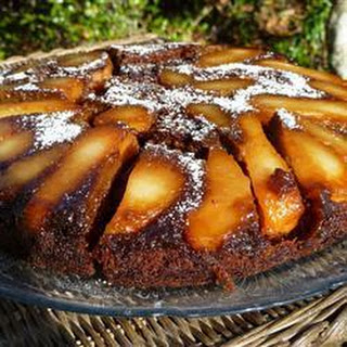 Upside-down Gingerbread And Pear Cake