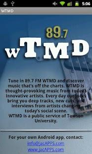 WTMD-FM - screenshot thumbnail