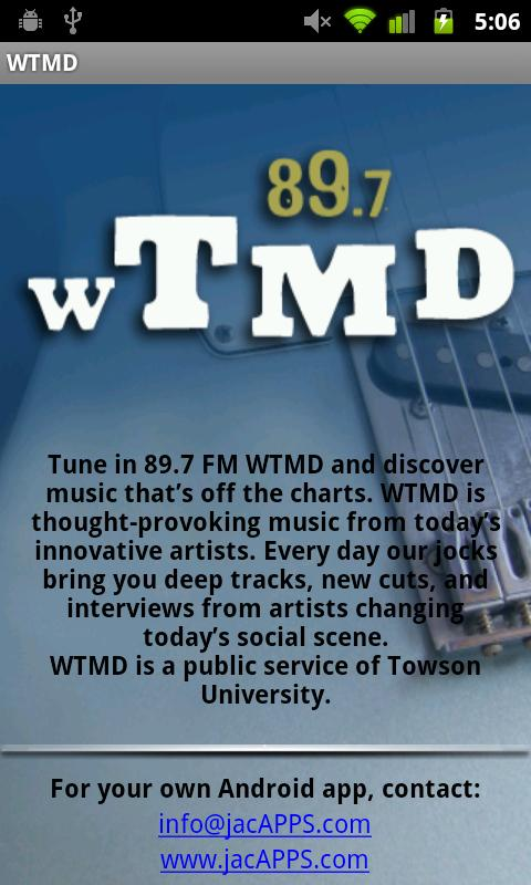 WTMD-FM - screenshot