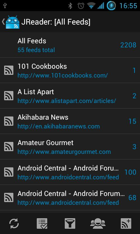 JReader (Google Reader | RSS)- screenshot