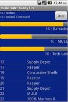 Screenshot of Build Order Buddy Lite