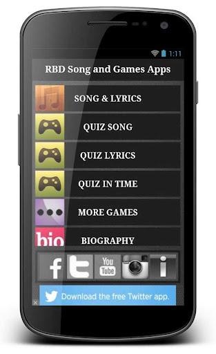 Rebelde RBD Song and Games App