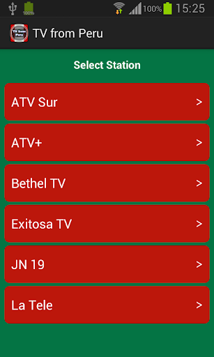TV from Peru