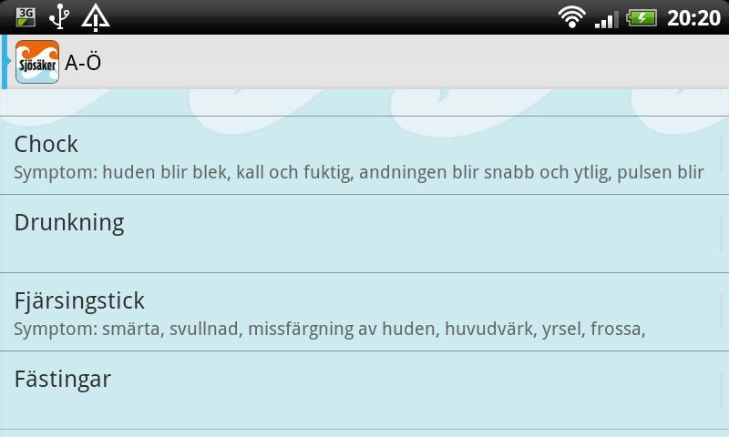 Sjösäker- screenshot