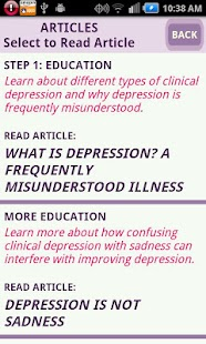 Depression CBT Self-Help Guide- screenshot thumbnail