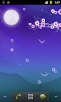 Screenshot of Blooming Night Live Wallpaper
