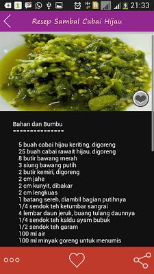 Resep Sambal Nusantara - screenshot