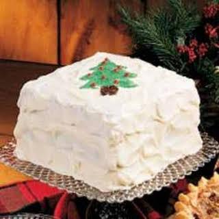 White Christmas Cake.