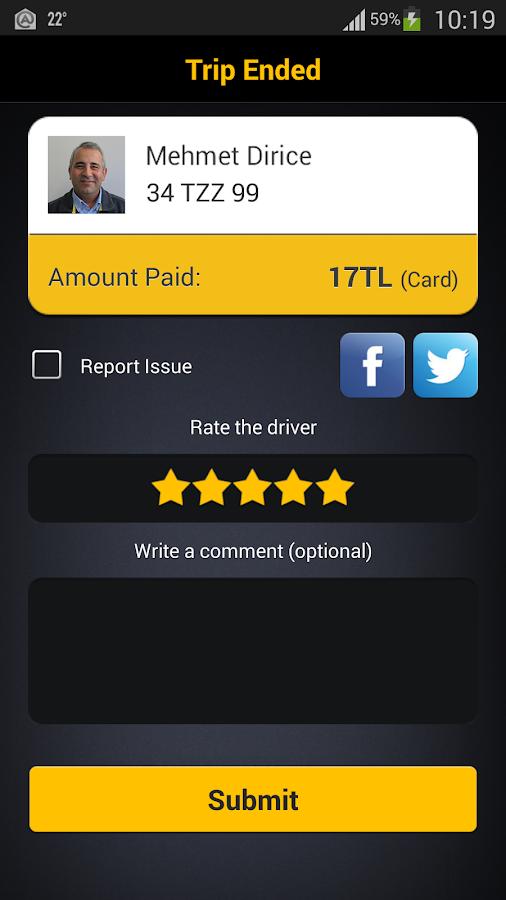 BiTaksi- screenshot