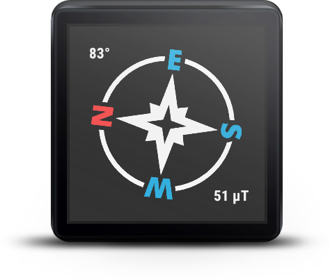 Compass For Android Wear- screenshot