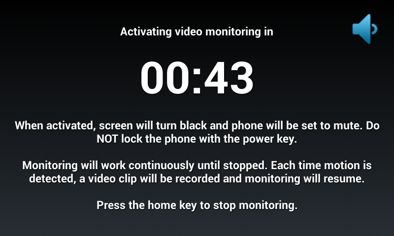 Motion Spy Video Recorder Pro - screenshot