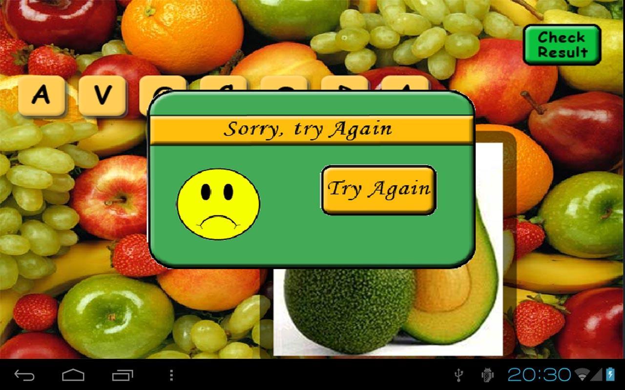 Fruit Scrabble Free- screenshot