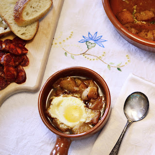 Sopa Castellana (Garlic Soup with Eggs).
