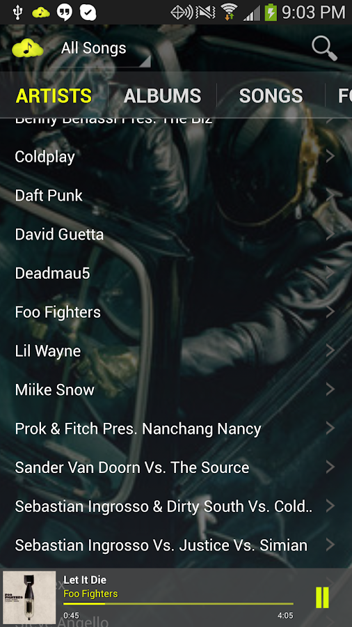 CloudAround Music Player - screenshot