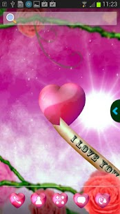 UR 3D Love Heart Live Theme - screenshot thumbnail