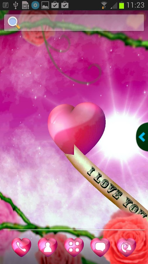 UR Love Hearts 3D Wallpapers - screenshot