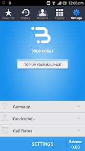Bolid Mobile - Cheap Calls- screenshot thumbnail