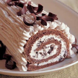 Rolled Chestnut Cream Cake.
