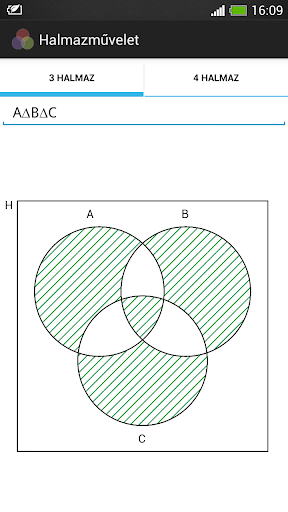 Set operations Venn diagram