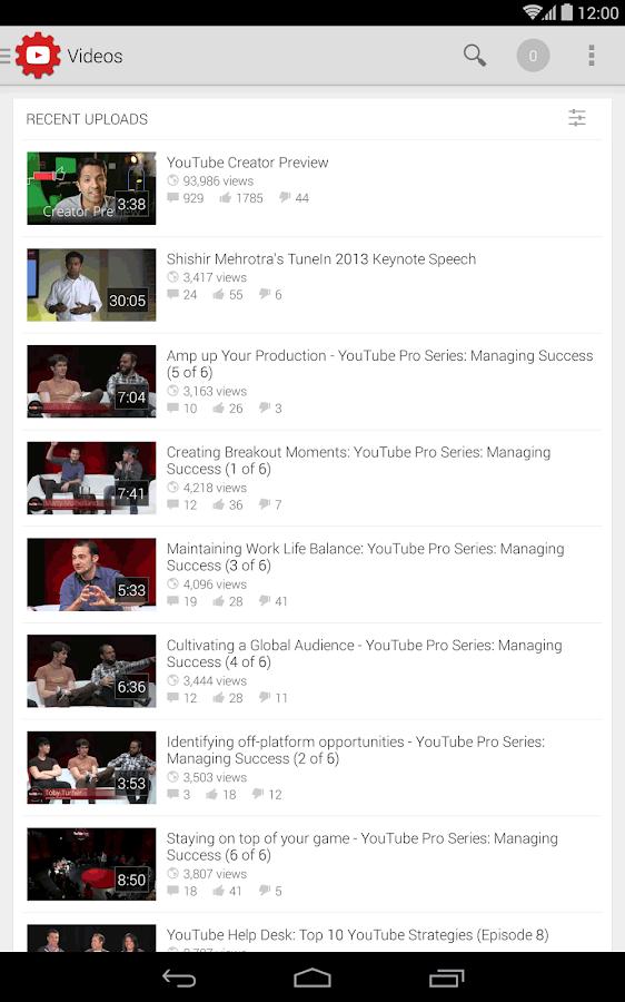 YouTube Creator Studio - screenshot