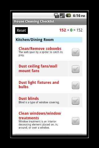 House Cleaning Checklist- screenshot