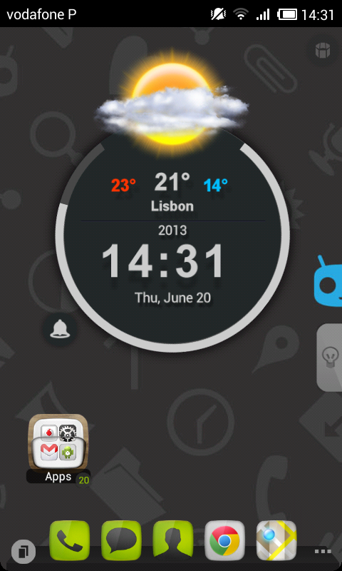 TSF Shell Cyanogen Dark HD - screenshot
