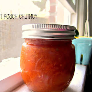Homemade Apricot Peach Chutney.