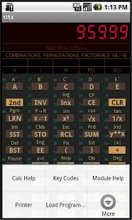 TI-58C/59 Calculator Emulator - screenshot thumbnail