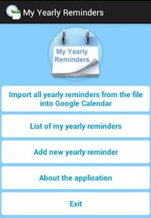 My Yearly Reminders- screenshot thumbnail