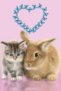 Cat and Bunny. Cute Wallpaper. - screenshot thumbnail