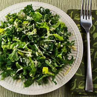 Kale and Romaine Caesar Salad