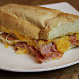 Top to Bottom Ham and Cheese Bread.