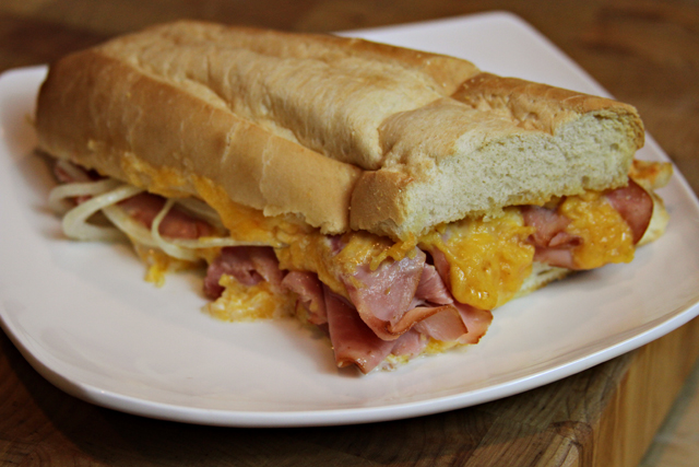 Top to Bottom Ham and Cheese Bread Recipe