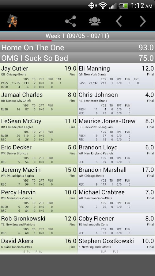 Fantasy Football Monitor 4 NFL- screenshot