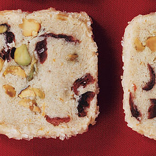 Pistachio Cranberry Icebox Cookies.