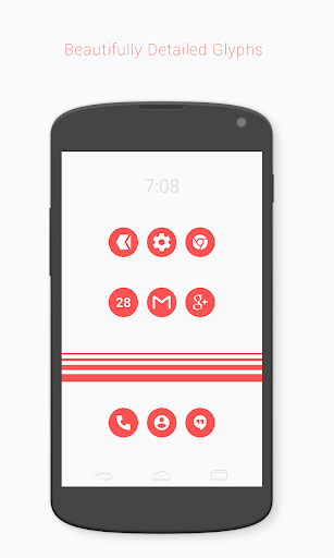 Flatcons Red Icon Pack