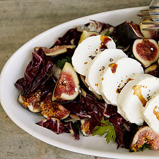 Fresh Goat Cheese and Radicchio Salad with Figs.
