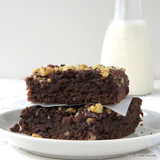 Grain-free, Chocolate Banana Bread Brownies