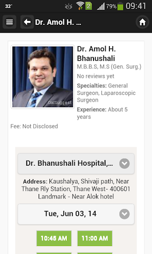 Dr Amol Bhanushali Appointment