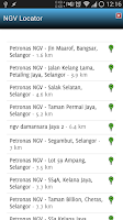 Screenshot of NGV Locator