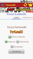 Screenshot of Superenalotto Fortuna 90